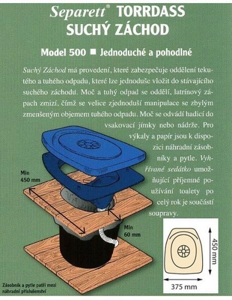 Separation built Separett - PRIVY 500