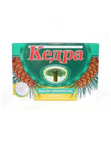 """Mýdlo-šampón """"Kedra"""" medové s odvarem bylinek z Tajgy a cedrovým olejem 80g"""