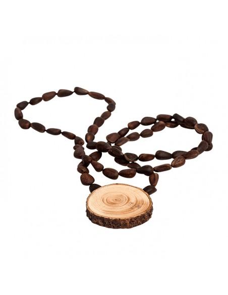 Halskette mit Zedernholzanhänger